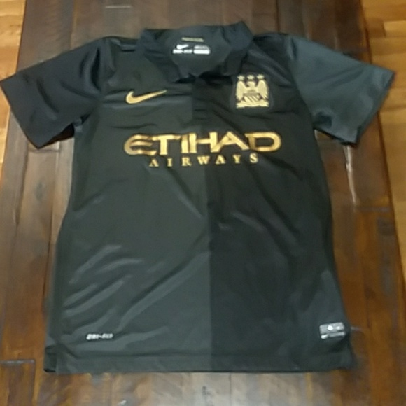 check out 1bfd6 013f6 Manchester City Black Soccer Match Jersey